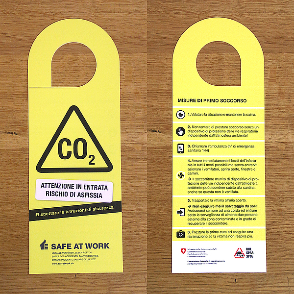 Cantine targa pericolo CO2